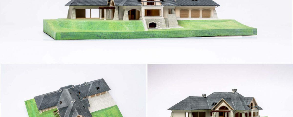 Wydruk 3D makiety domu - color jet printing